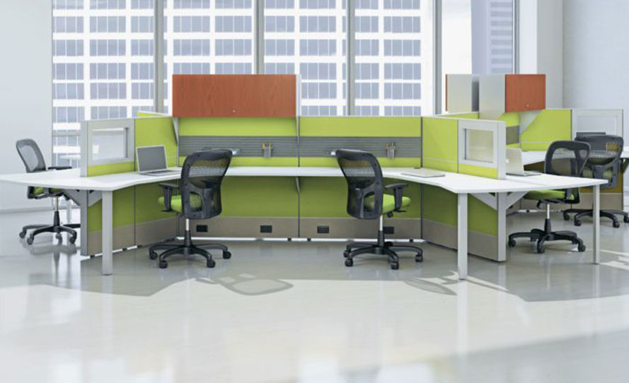 Encourage collaboration with these cubicle workstations