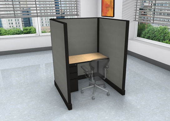 Call Center Cubicles: 4x4 + filing cabinet