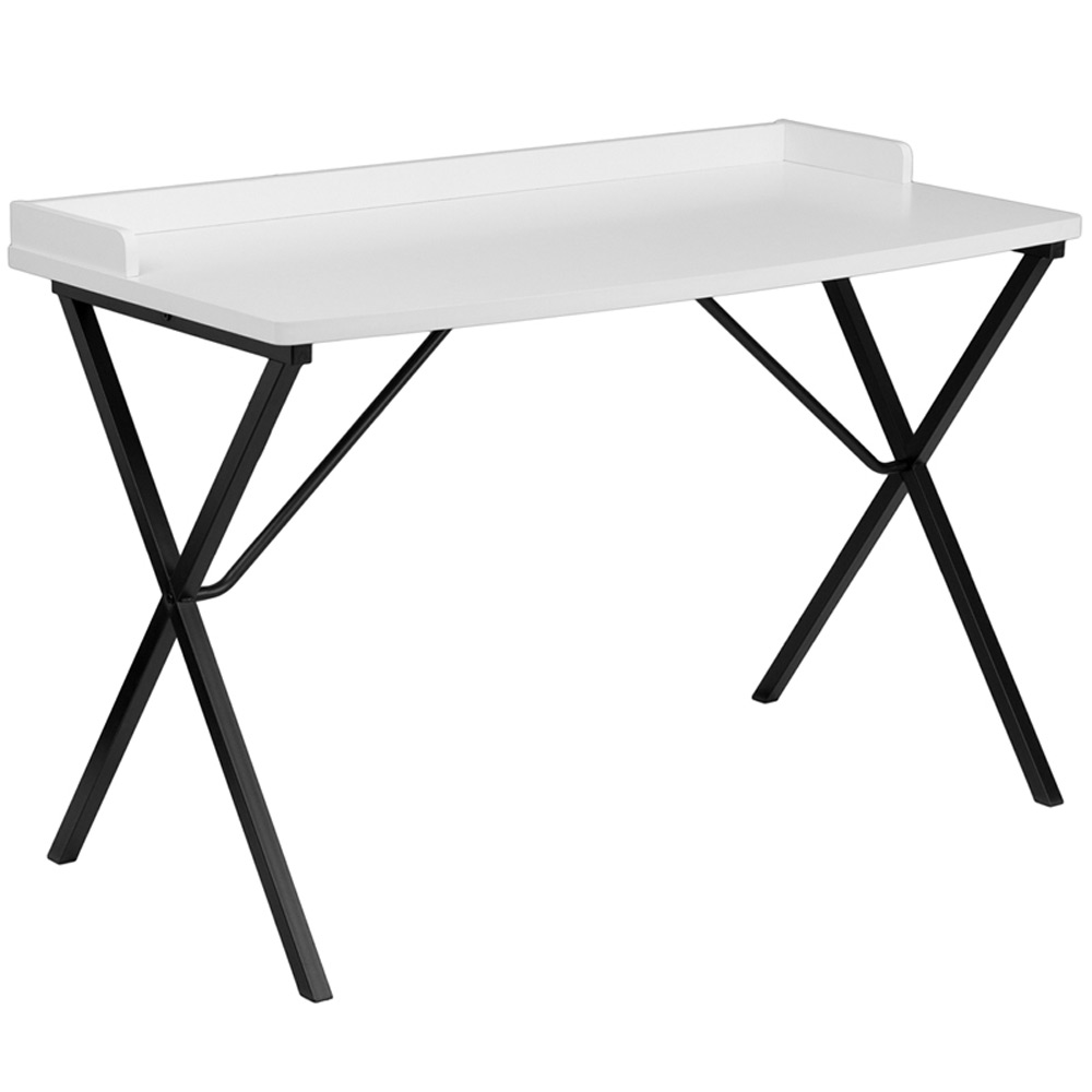 Computer Desk For Small Spaces NAN-2140-WH-GG