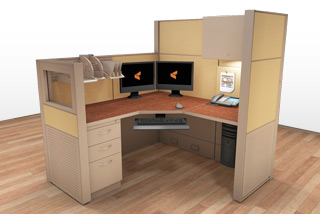 Cubicle Systems - #5x5x66-50