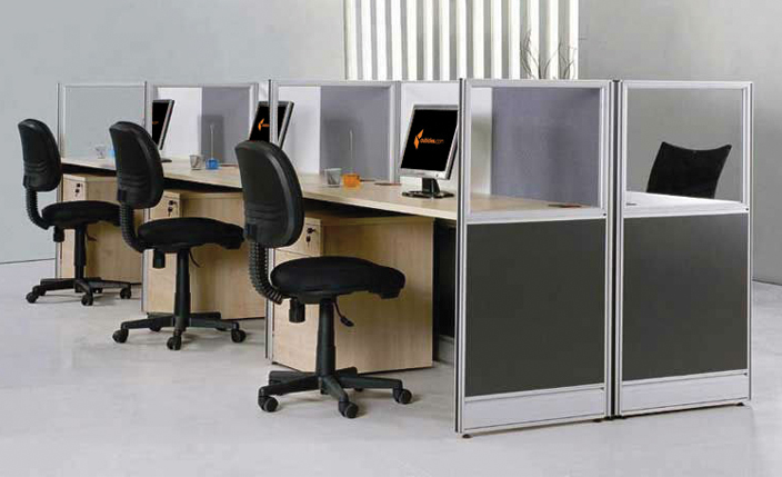 minimal furniture needs of a call center environment: a telephone, a