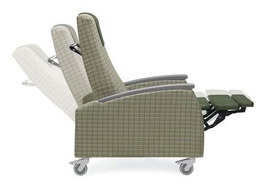 primacare gc3608 medical recliner side view