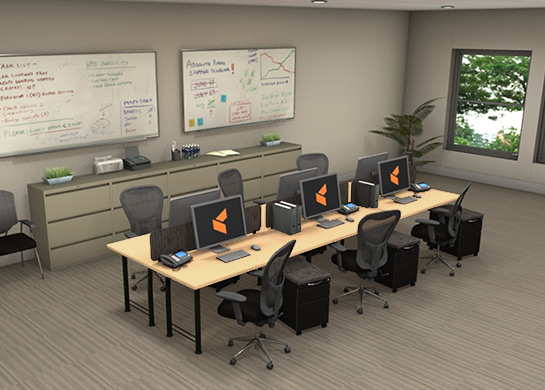 Office furniture workstations for Modern office furniture systems