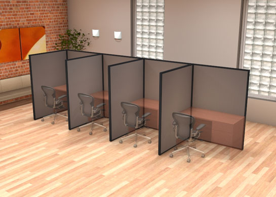 Office Partition Walls L Configuration By