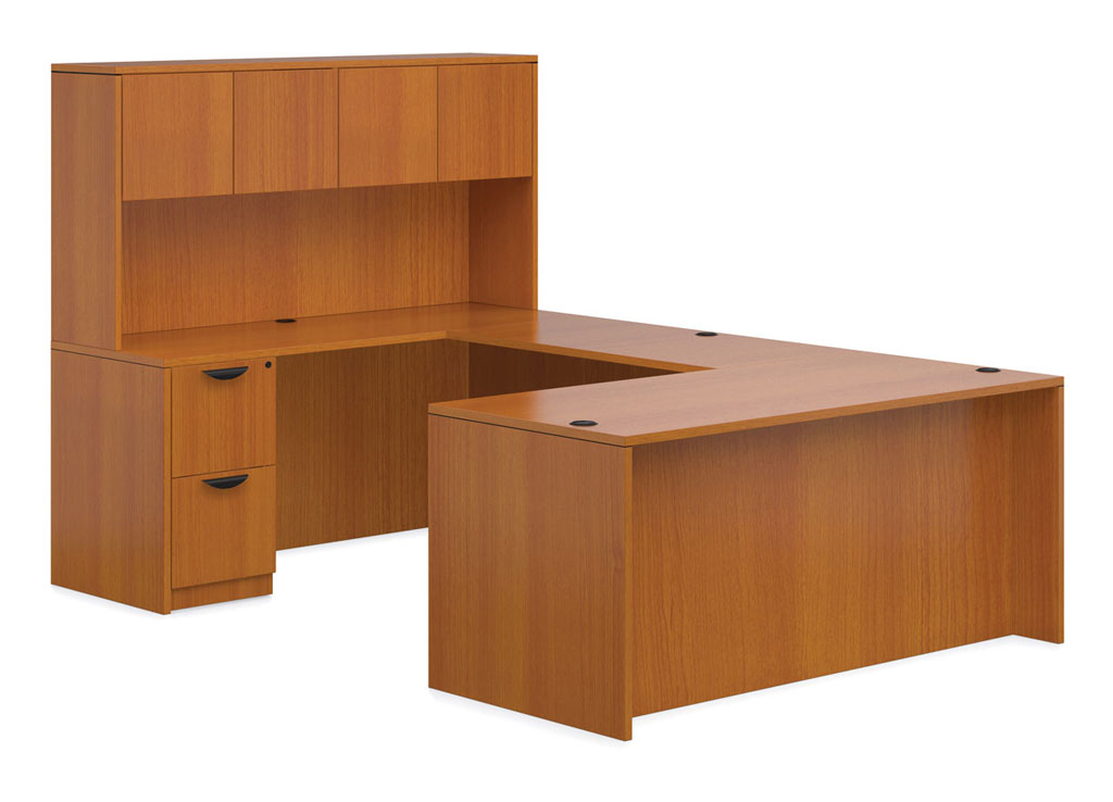 U Shaped Desk With Hutch Affordable Office Furniture