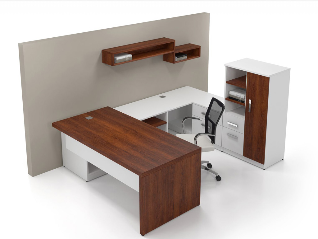 White Executive Desk Contemporary Office Desk Desk
