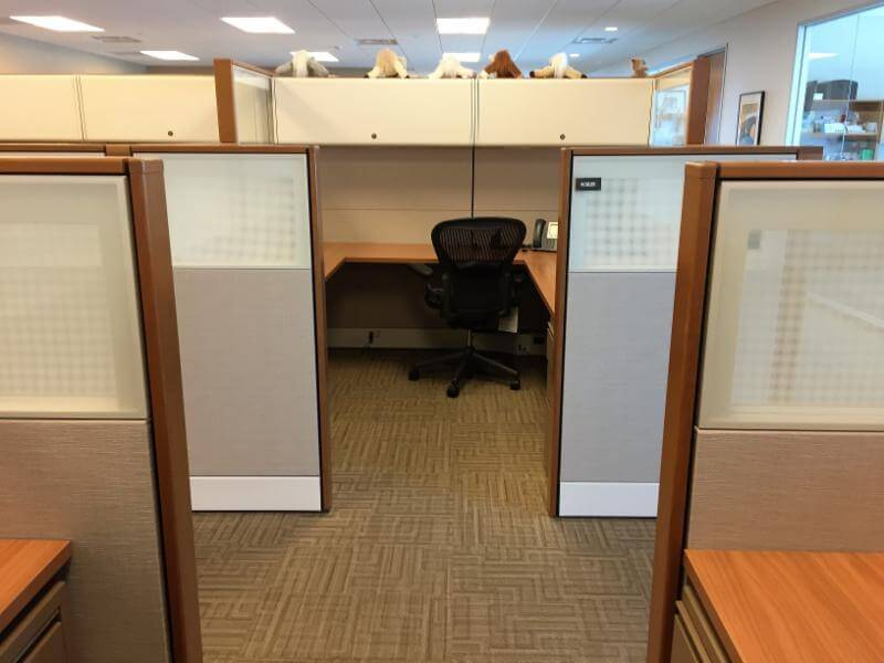 Used Ethospace 8x8x70 54h Combo Panels Used Cubicles