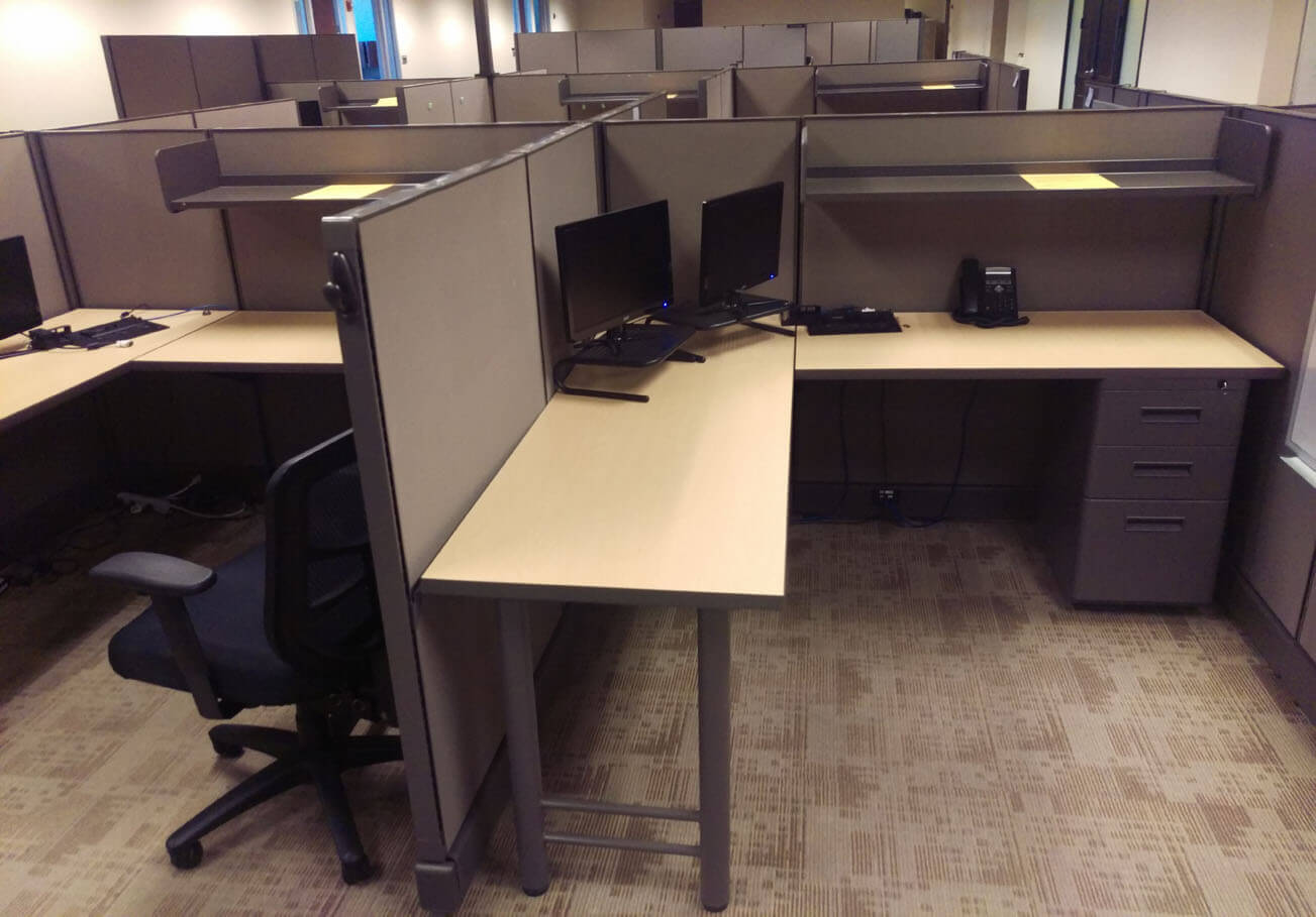 Herman Miller Workstations 6x6 Used Office Cubicles