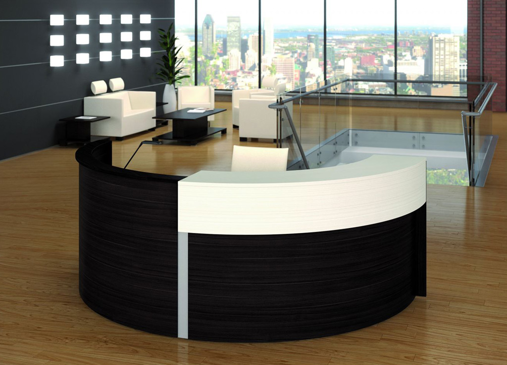 round reception desk modern reception desk reception. Black Bedroom Furniture Sets. Home Design Ideas