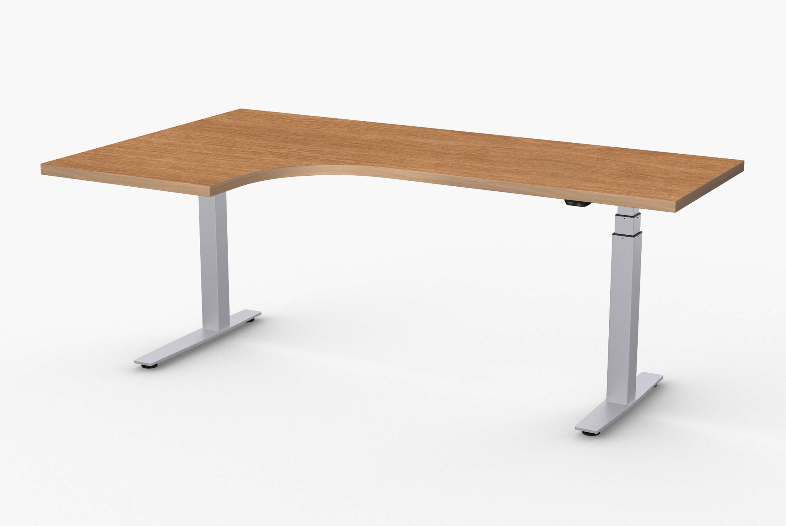 L Shaped Ergonomic Computer Desk Adjustable Height Desks