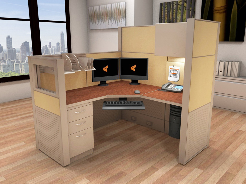 office system furniture - 5x5 cubicle workstations