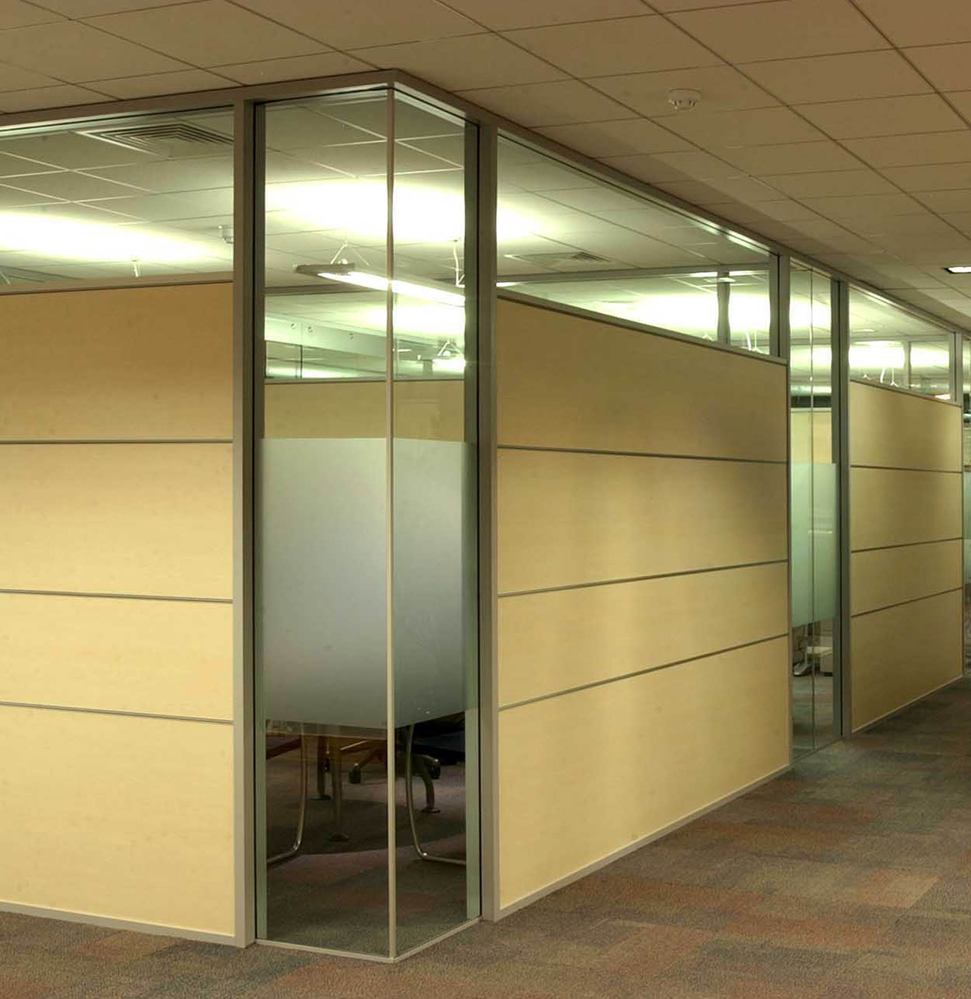 Glass partition designs glass wall systems glass for Large glass wall