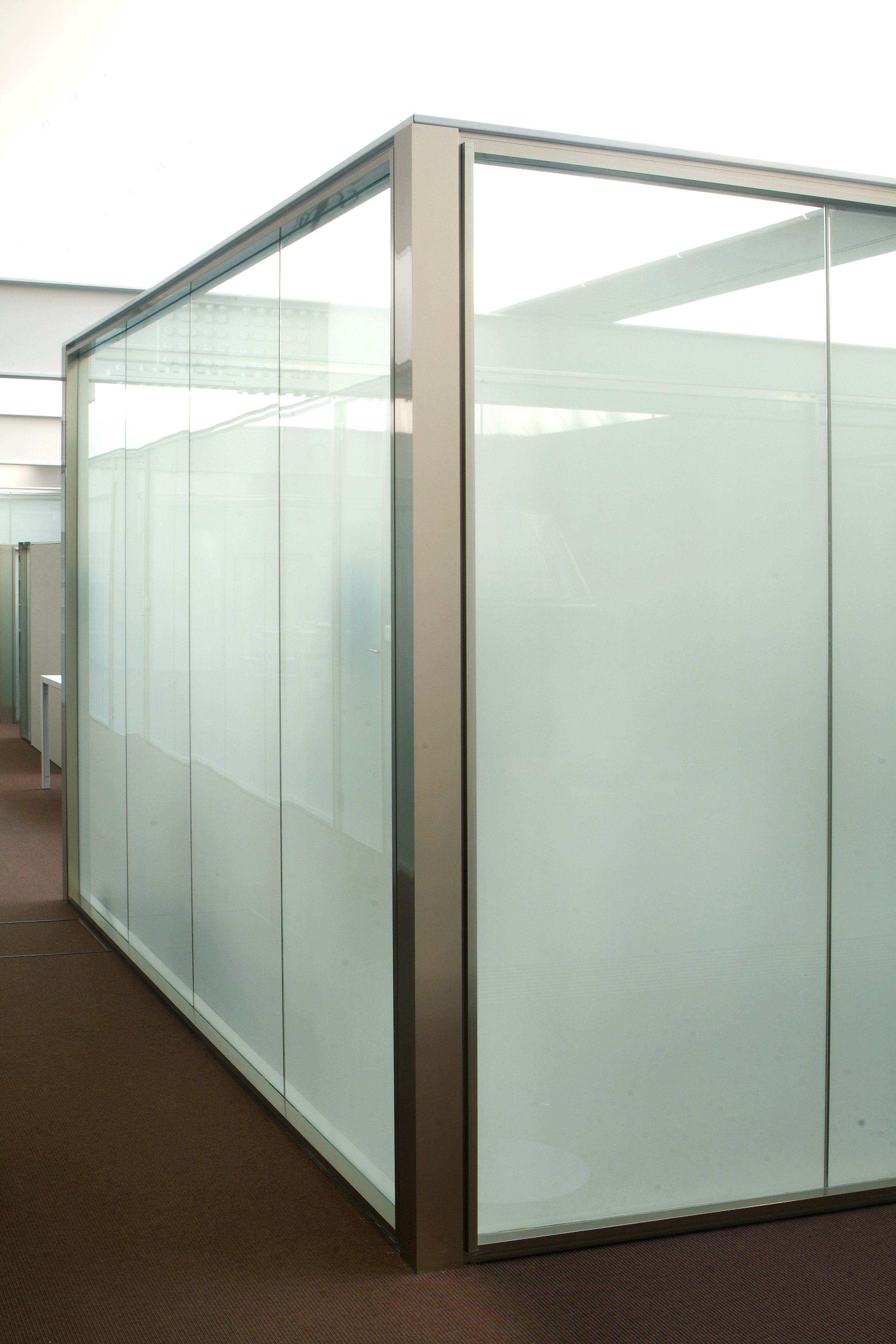 Frosted Glass Wall Glass Wall Systems Glass Partition
