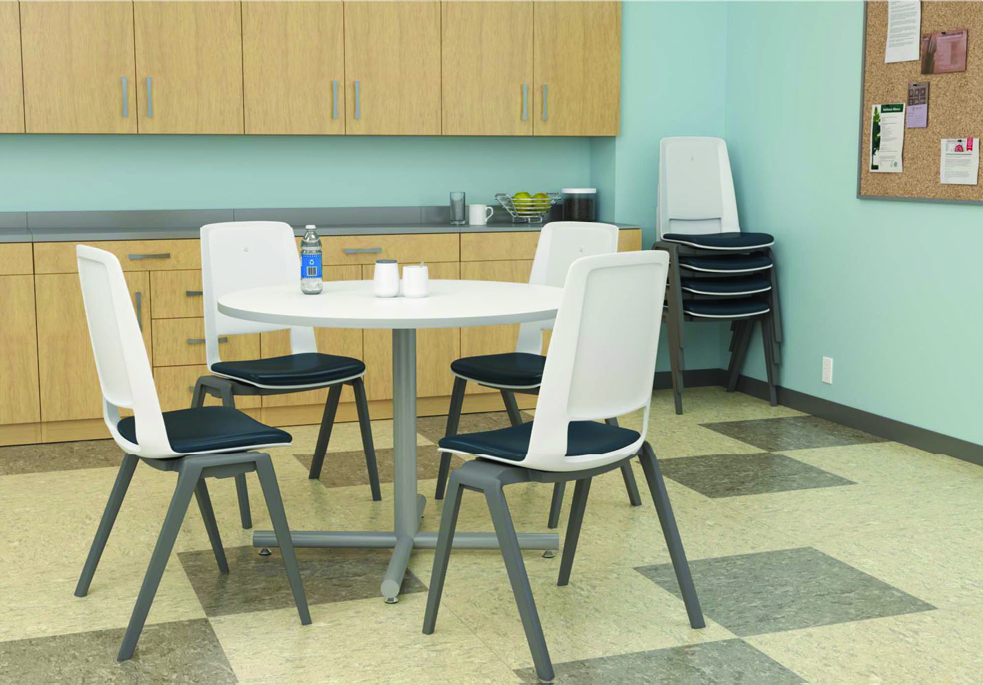 Cafeteria tables and chairs break room furniture for Seating room furniture