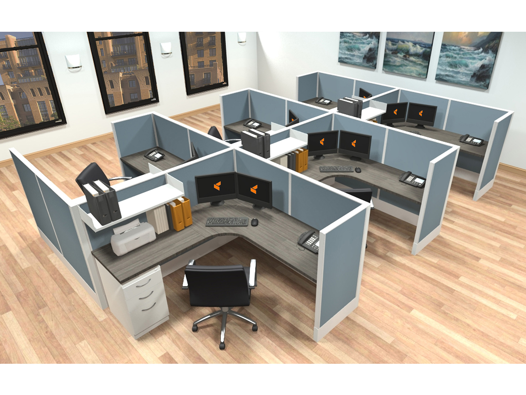 Modular Office Furniture Systems - Modular Workstations -AIS Furniture