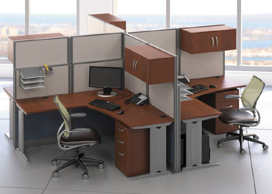Office cubicals L-Station 4Pk