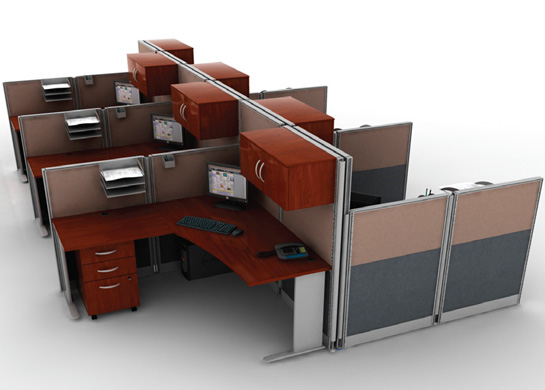 Office cubicals L-Station 6Pk