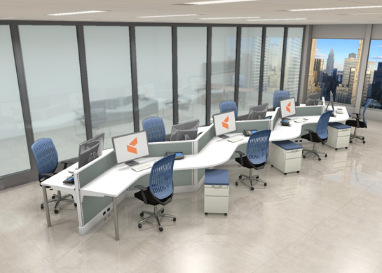 Office Furniture Workstations #V1
