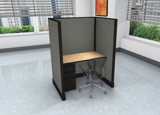 Call Center Cubicles: 3x4 + filing cabinet