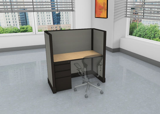 Call Center Cubicles: 2x4 + filing cabinet