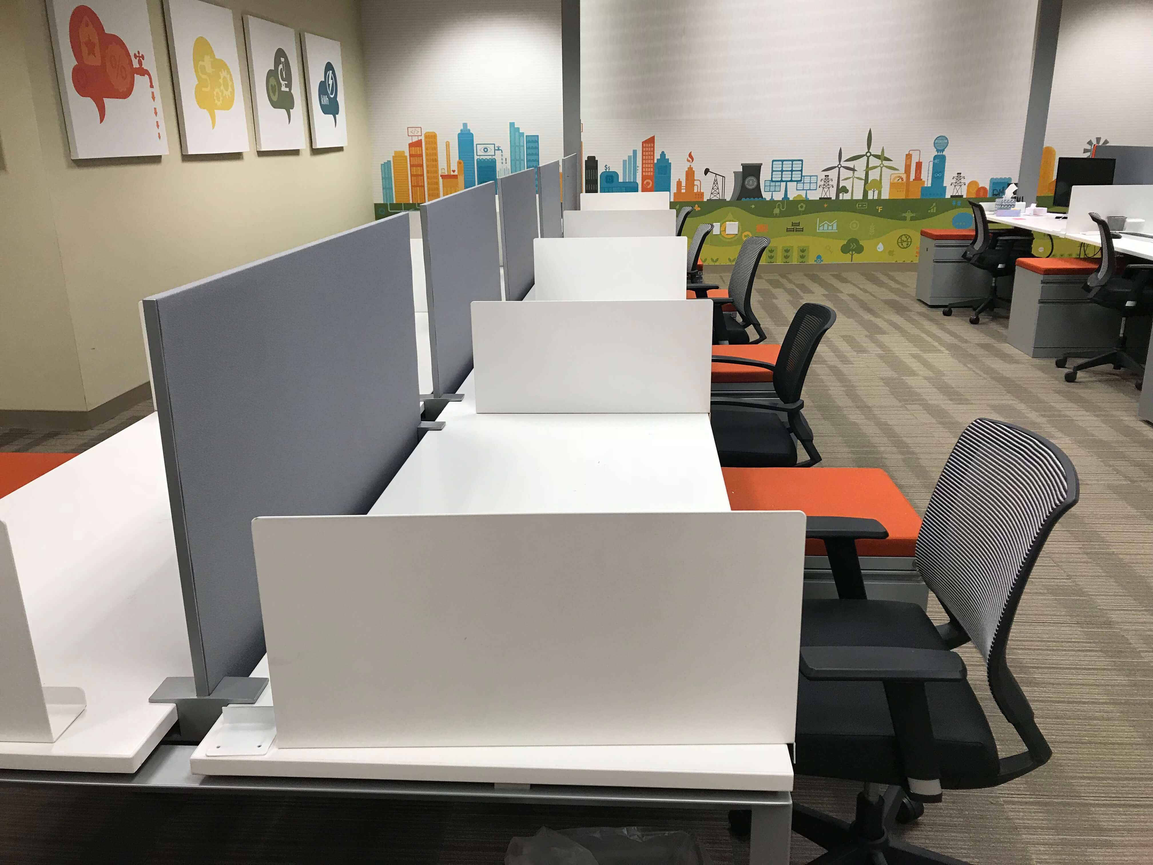 Small office cubicles Modern Call Center Used Cubicles 100818rri Cubicles Used Cubicles By Cubiclescom