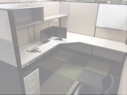 Used Cubicles #052317-PL2