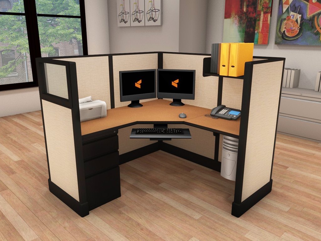 Office Cubicle Workstation - #5x5x53