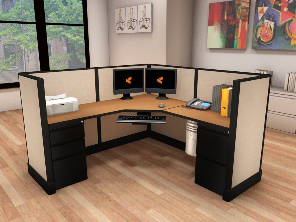 Commercial Computer Desk - #6x6x47