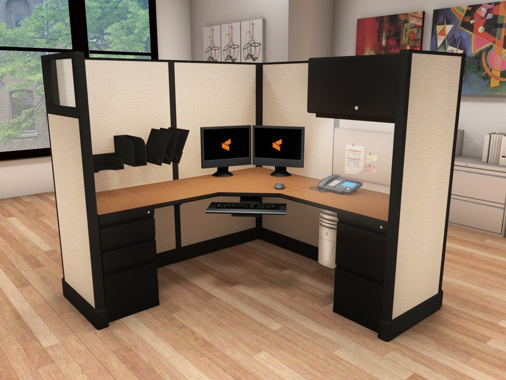 Commercial L Shaped Desk - #6x6x67