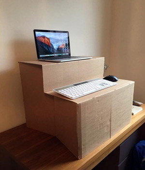 DIY Sit & Stand Desks - The Box