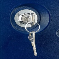 employee lockers with keyed cam lock