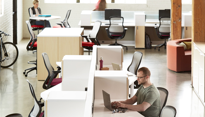 Flexible workspaces photo courtesy of Knoll