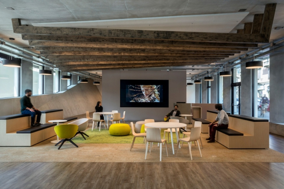 Innovative office designs at Microsoft in Milan