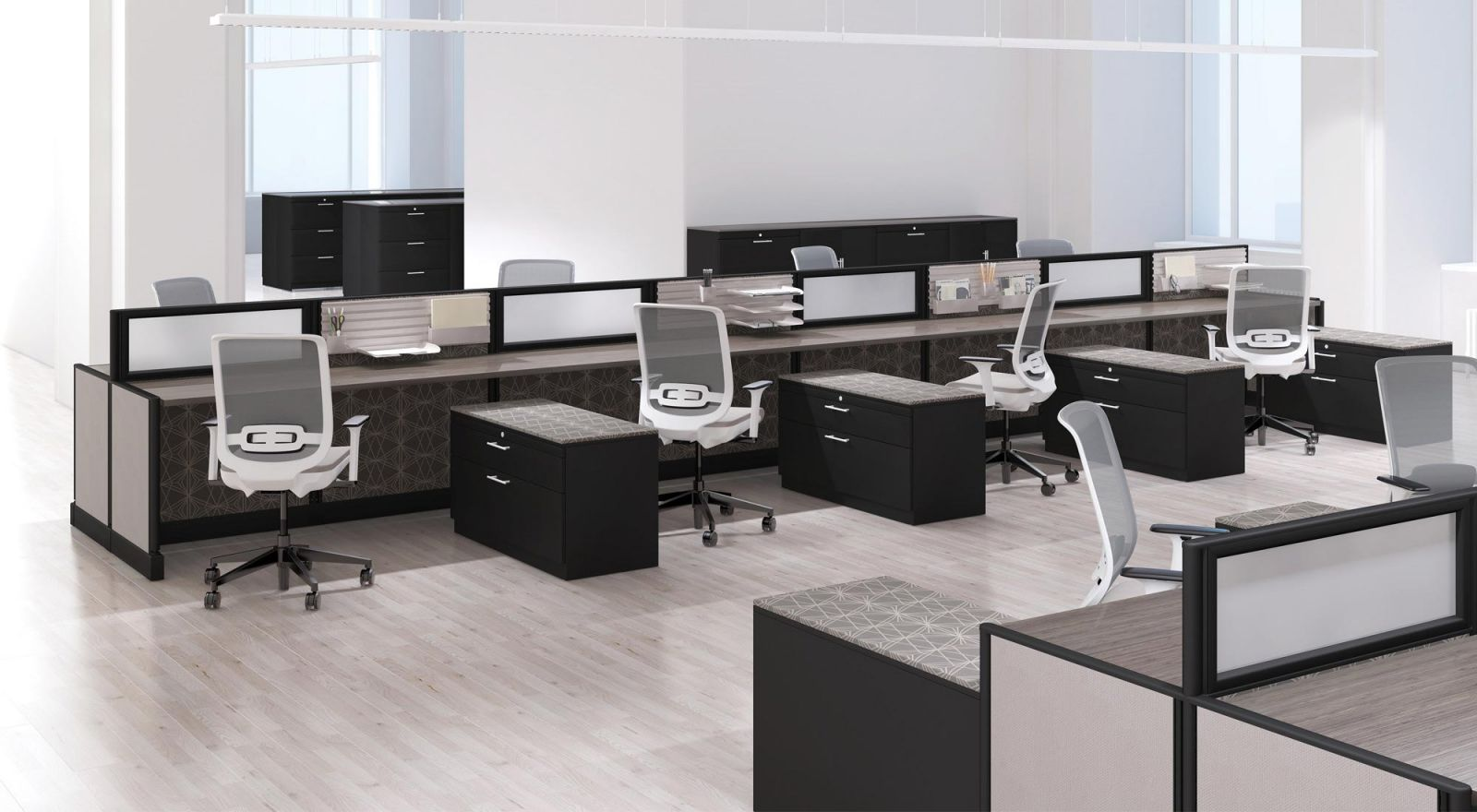 Knoll Cubicles as Benching
