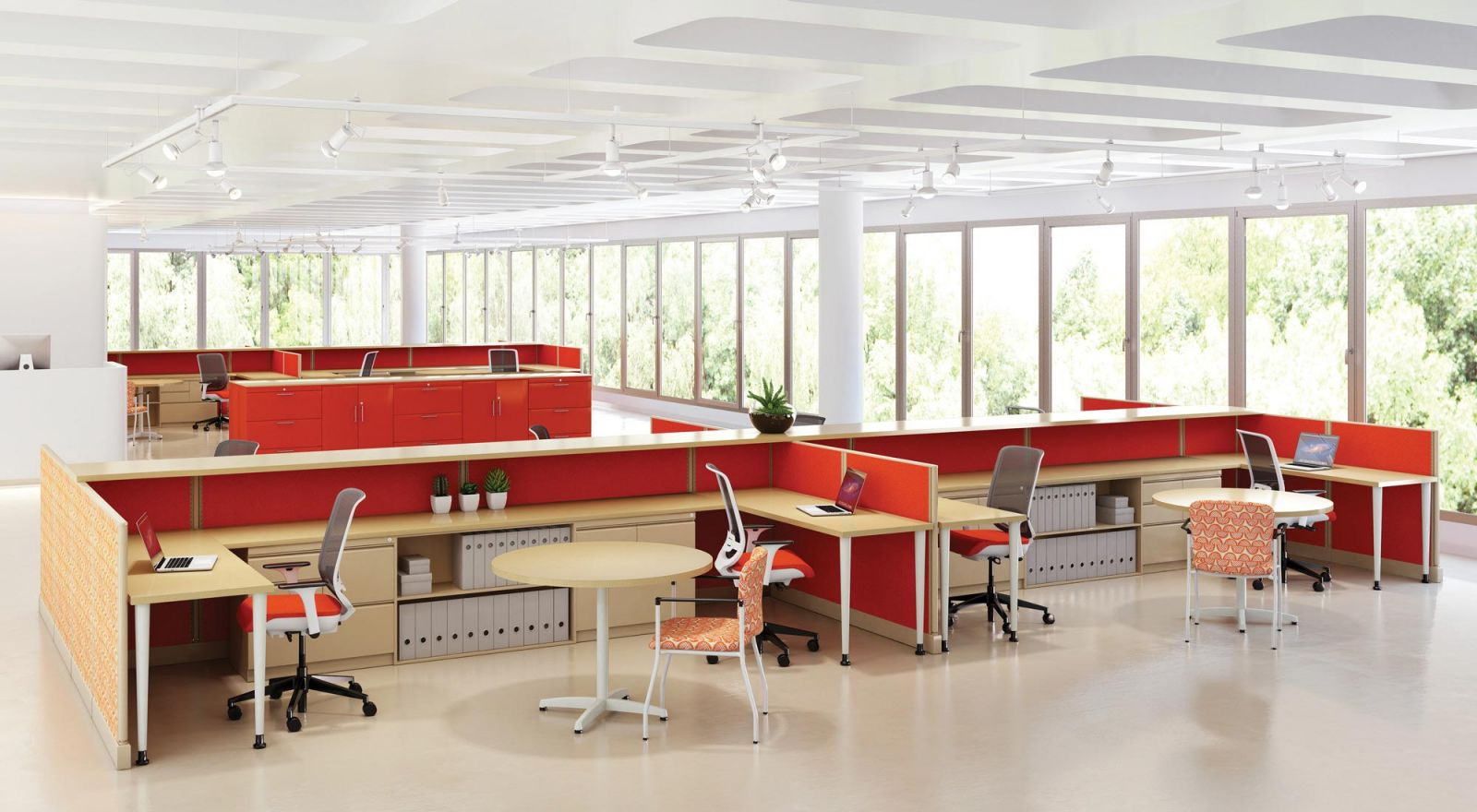 Knoll Cubicles for Collaborative Workspaces