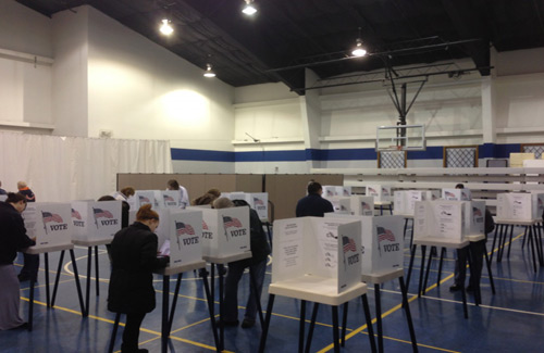 Temp wall panels for government - polling places