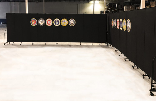 Temp wall panels for government - military events