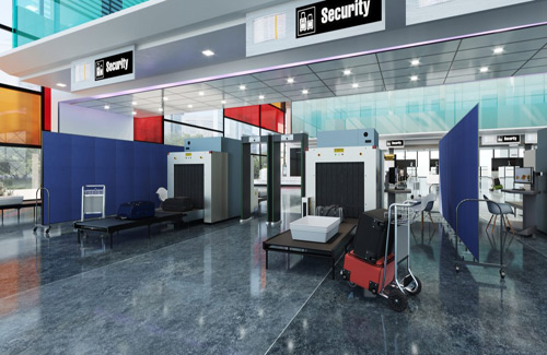 Movable wall partitions for transportation - airports
