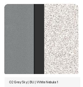 Office Color Palette: Grey Sky | BU | White Nebula
