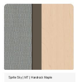 Office Color Palette: Sprite Sky | MT | Hardrock Maple
