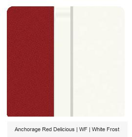 Office Color Palette: Anchorage Red Delicious | WF | White Frost