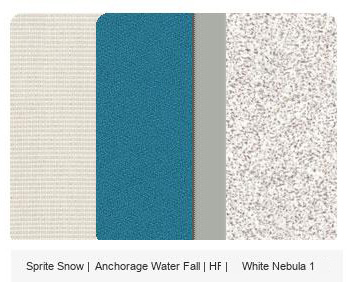 Office Color Palette: Sprite Snow | Anchorage Water | HF | Whte Nebula 1