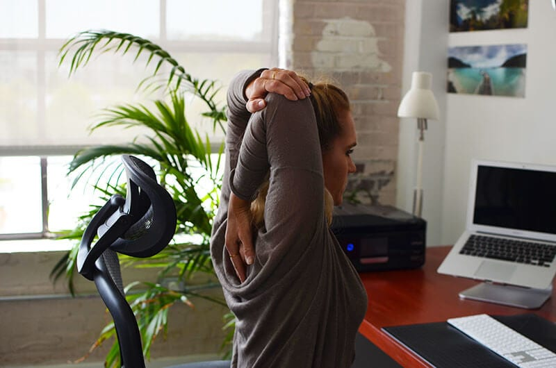 Office Sitting Exercises to Combat Sitting Disease - Triceps Stretch