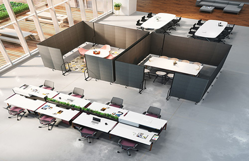 Portable room dividers for business - open office space