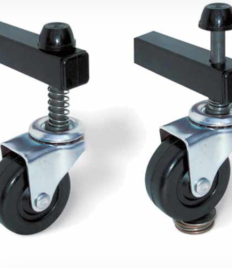 Movable wall - self leveling casters