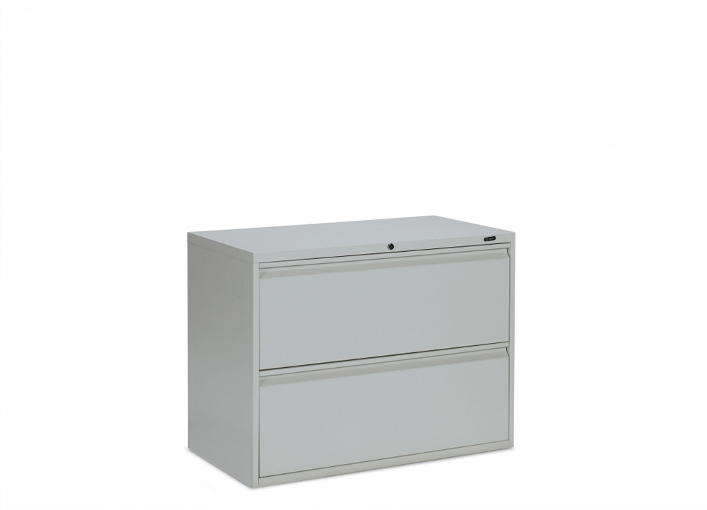 2 drawer filing cabinet CUB 1930P 2F12 GRY OLG