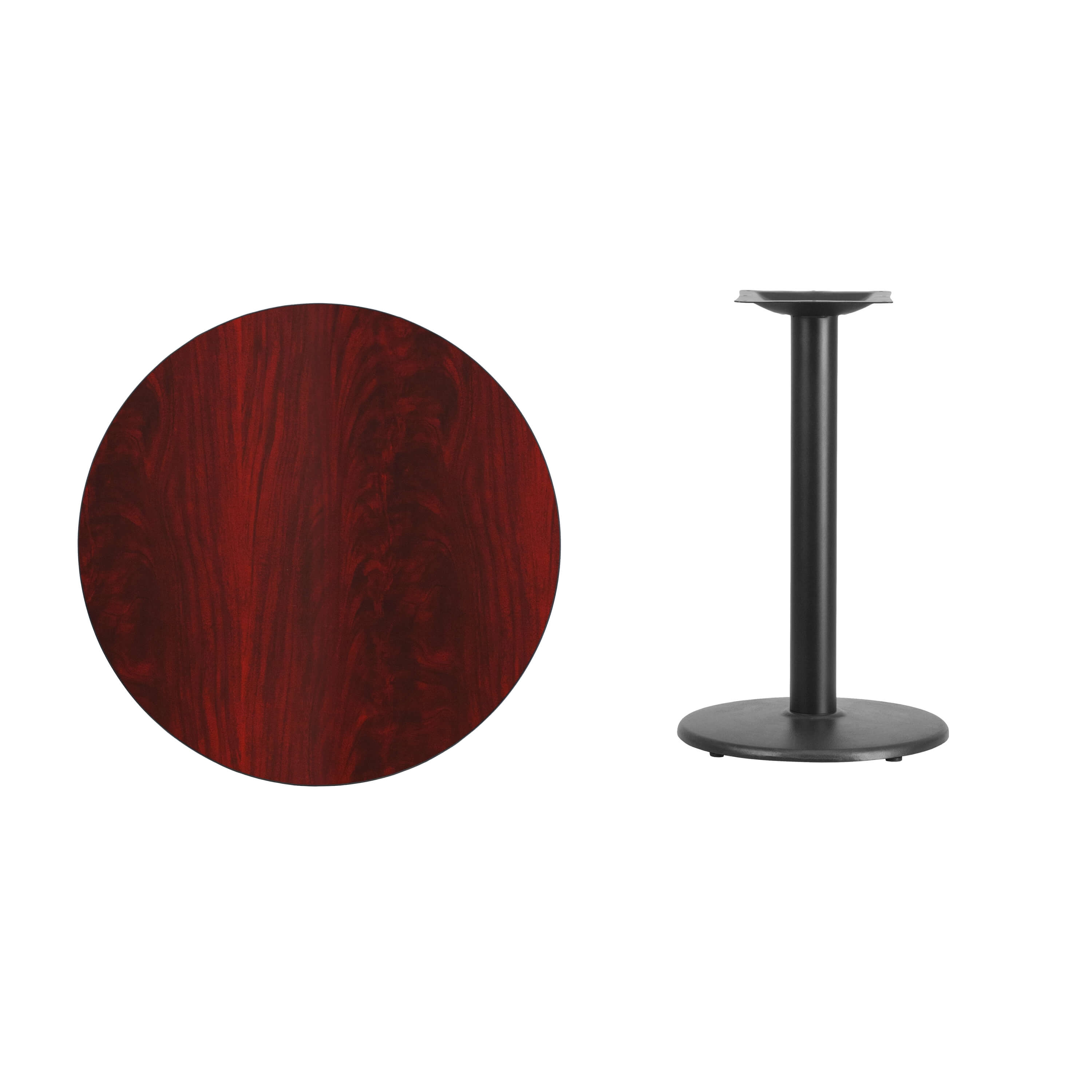30inch round laminate table parts