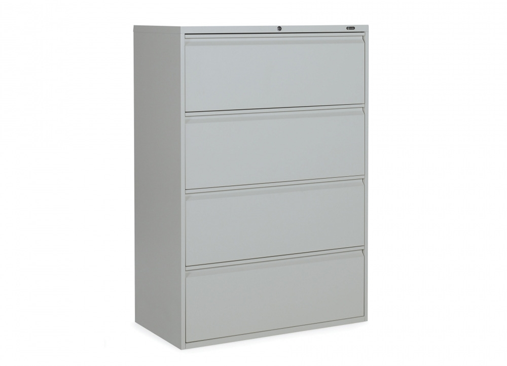 4 drawer lateral file cabinet CUB 1942P 4F12 LGR OLG
