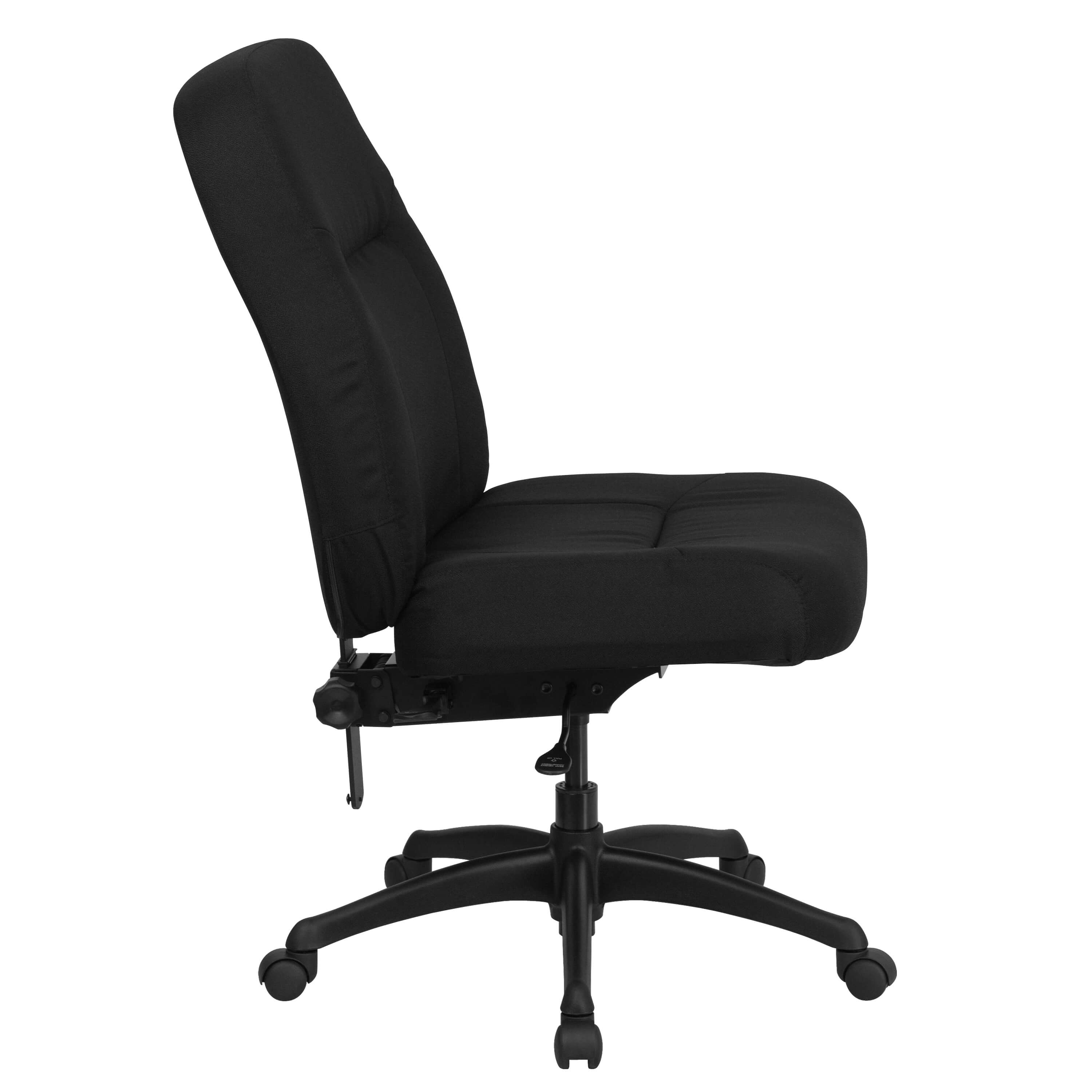 400 lb capacity office chair side view