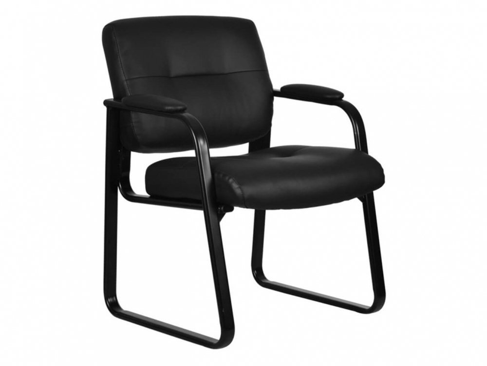 Basyx Vl693 Leather Waiting Room Chairs